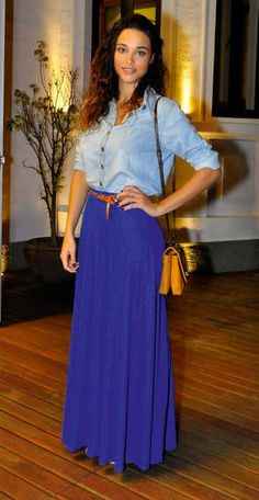 Aprenda a usar saia longa com famosas como Grazi Massafera e Nathalia Dill