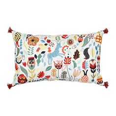 IKEA RÖDARV cushion Embroidery adds texture and lustre to the cushion.