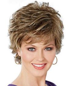 $10.65 Shaggy Short Pixie Cut Natural Wave Fashion Mixed Color Women's Synthetic Wig