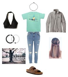"""Faithful"" by mbwoody04 ❤ liked on Polyvore featuring River Island, Birkenstock, Lokai, Hollister Co., Regatta and Patagonia"