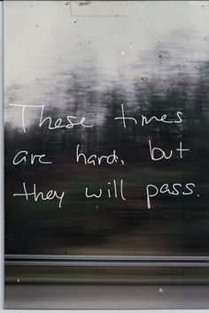 They will pass.