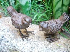 pair of rustic cast iron dragonfly garden ornaments garden