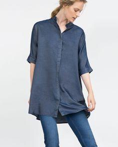 Image 1 of OVERSIZE LONGLINE SHIRT from Zara