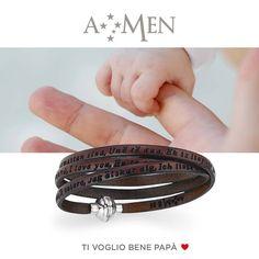 La mano di un padre ti rende invincibile, il suo sorriso, felice. 19 Marzo, Festa del papà. Amen Collection www.fasologioielli.com