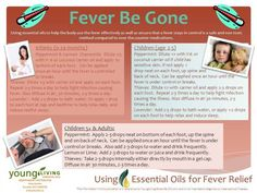 Treating fever in infants to adults with young living essential oils