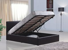 This Bonsoni Simple Style King Size Berlin Ottoman Bed Frame Brown is a beautiful piece of Bed demostrating the Bonsonis unparallel quality and workmanship. This BERLIN OTTOMAN BROWN comes in 3 boxes. This Bonsoni Simple Style King Size Berlin O Ottoman Storage Bed, Ottoman Bed, 4ft Beds, Leather Bed Frame, Bed Frame With Storage, Online Furniture Stores, Leather Ottoman, Bed Mattress, Simple Style