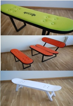 Muebles skateboards