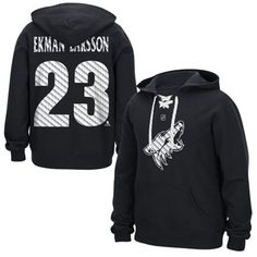 Mens Arizona Coyotes Ekman-Larsson Reebok black lace up Hockey hoodie.