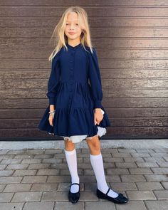 Little Fashion, Girl Fashion, Day Dresses, Girls Dresses, Anna Pavaga, Girly Girl Outfits, White Tights, Baby Girl Photos, Famous Girls