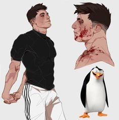 DreamWorks Characters Humanized by Tamara Petrosyan aka CrazyTom Drawing Cartoon Characters, Character Drawing, Cartoon Drawings, Cartoon Art, Art Drawings, Realistic Drawings, Penguins Of Madagascar, Anime Version, Wow Art