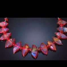 Red Flames necklace
