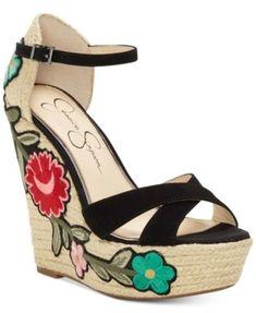 2b850bb440a4 Jessica Simpson Apella Patch Wedge Sandals   Reviews - Sandals   Flip Flops  - Shoes - Macy s