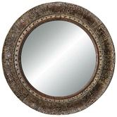 Found it at Wayfair - Crackled Fantasy Wall Mirror in Crackled Gold