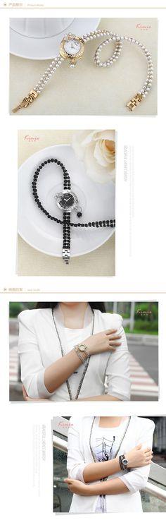 aeProduct.getSubject() Gold Watches Women, Korean Fashion, Bracelet Watch, Arrow Necklace, Pearls, Band, The Originals, Elegant, Luxury