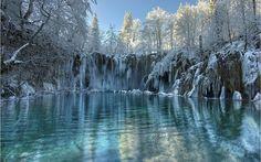 winter Plitvice Croatia