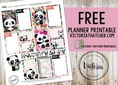 Panda planner printable