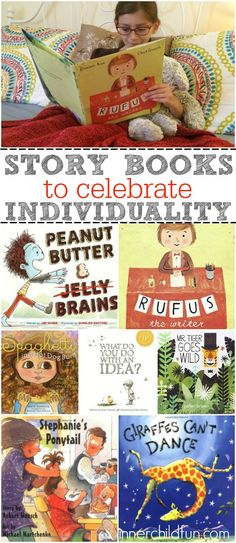 Kids Books to Celebrate Individuality - Inner Child Fun Preschool Books, Book Activities, Great Books, My Books, Kids Reading, Reading Lists, Mentor Texts, Library Books, Class Library