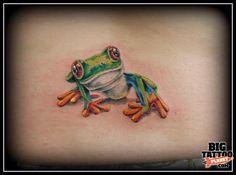 Tree frog tatoo too cute