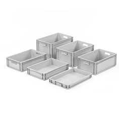 Description - Ergonomic hand holes (except shallow versions) - High strength - Excellent value for money - Cold and heat resistant - Euro standard sizes for simple palletization Workplace, Euro, Catalog, Container, Range, Cookers, Ranges, Canisters