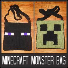 Ravelry: Reversible Minecraft Monster Bag pattern by Katie Bobbitt