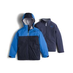 93026021657c The North Face Chimborazo Triclimate Boys  - Cosmic Blue North Face Coat