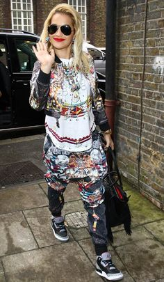 Rita Ora in the coolest outfit ever
