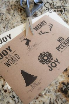 Printable Gift Tags from Shanty-2-Chic | Curbly
