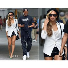 Beyonce and Jay Z Best Street Style Fashion Illuminati ❤ liked on Polyvore featuring people and models
