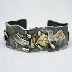 silver cuff with brass | Flickr - Photo Sharing!