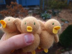 Baby Duck toy waldorf toy eco friendly by EvesLittleEarthlings