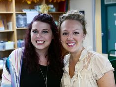 Karla & Danielle - two of our beautiful circ desk staff!