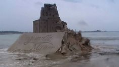 """""""Sand castle destruction by second highest tide in the world."""" —Stewart Lobb. Ah well, it is kind of clever! :)"""