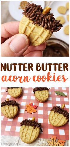 Nutter Butter Acorn Cookies