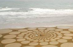 jim denevan giant beach sand art (5)