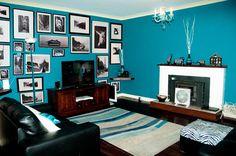 Inspiring Blue Living Room Wall