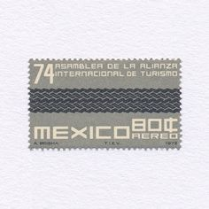 74th Assembly of the International Alliance of Tourism (80¢). Mexico, 1972. Design: A. Brisha. #mnh #graphilately