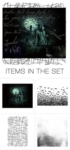 """Zombies in the graveyard"" by antonela ❤ liked on Polyvore featuring art"