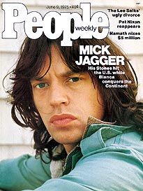 The Rolling Stones Mick Jagger on the cover of People magazine. Some people age better than others! Mick Jagger, 70s Music, Music Love, Rock Music, Melanie Hamrick, The Rolling Stones, Georgia May Jagger, People Magazine, Pac Man