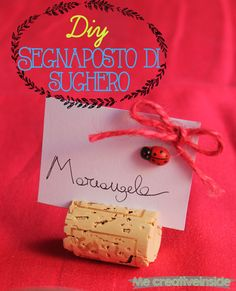 Segnaposto di sughero in 4 step, Cork placeholder card in 4 step