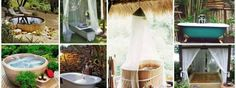 outdoor bathtubs and showers
