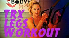 This workout uses the TRX suspension trainer to work the legs, glutes and core, all while getting cardio in, too!
