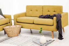Canapea Fixa 2 locuri Ina Loft Yellow #homedecor #inspiration #interiordesign #sofa #livingroom #livingroomdecor Loft, Otaku, Living Room Decor, Love Seat, Couch, Interior Design, Yellow, Inspiration, Furniture