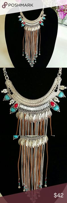 SALE!!! Statement Necklace Beautiful brand new statement necklace. See 4th pick for details. This listing has been host picks a couple of  times as well. Jewelry Necklaces