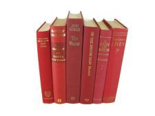 Red   Vintage  Books , Decorative Books for Wedding Decor, Home Decor, and Photography Prop