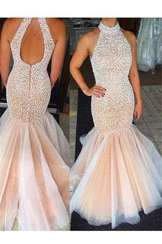2017 Tulle Mermaid Evening Prom Dresses, Long Cheap Evening Prom Dress, Pearls Prom Dress, 2017 Prom Dress, Formal Prom Dress The 2017 Tulle Mermaid Evening Pro Blush Pink Prom Dresses, Princess Prom Dresses, Prom Dresses 2016, Prom Dresses Online, Bridal Dresses, Dress Prom, Dress Online, Chiffon Dresses, Bridesmaid Gowns