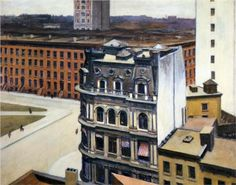 Edward Hopper (1882-1967) : The City, 1927. Private Collection. ©