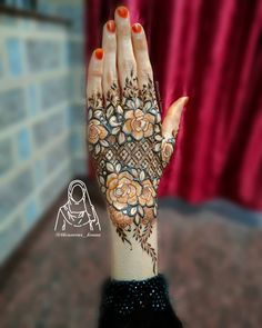 Best Arabic Mehndi Designs, Khafif Mehndi Design, Henna Tattoo Designs Simple, Floral Henna Designs, Basic Mehndi Designs, Latest Bridal Mehndi Designs, Stylish Mehndi Designs, Henna Art Designs, Mehndi Designs For Girls