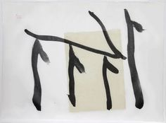 """Robert Motherwell's Rite of Passage III (1980, Lithograph with chine colle on white Mulberry hand-made paper, signed and numbered in ink, 24.5"""" x 34"""") at Anita Rogers Gallery http://www.anitarogersgallery.com/artists/robert-motherwell"""