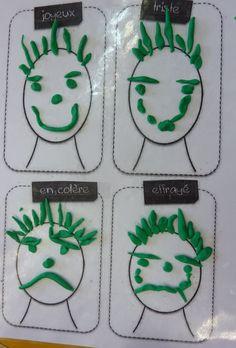 réaliser 4 expressies différentes en pâte à modeler in 2020 Emotions Preschool, Preschool Art, Emotions Activities, Recycled Crafts Kids, Crafts For Kids, Educational Activities, Preschool Activities, Motor Activities, Expressions