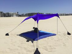 Neso Tents Beach Tent with Sand Anchor, Portable Canopy Sunshade - x - Patented Reinforced Corners(Aqua Fronds) Beach Shade Tent, Beach Canopy, Canopy Tent, Tent Camping, Outdoor Camping, Portable Canopy, Tent Reviews, Unique Gadgets, Camping
